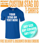 CUSTOM PERSONALISED PRINTED STAG DO PARTY T-SHIRTS