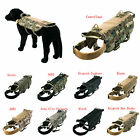 Police K9 Molle Working Dog Vest Harness 9 Color XL Large Medium Small XS