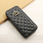 New Metal Nail Bling Crown Leather Wallet Case Cover for iPhone 6 Plus 5.5 4.7