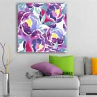 Flower Blossom Stretched Canvas Print Framed Wall Art Painting Purple Decor Gift