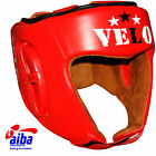 VELO Offiziell AIBA Approved Head Guard Pro Leather Boxing head guard Gear