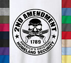 Pro Guns Firearms 2ND AMENDMENT HOMELAND SECURITY Soft Ringspun Cotton T-Shirt