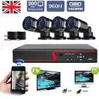 4CH Full 960H DVR HDMI Outdoor Night 720P CCTV Security IP Cameras System Kit UK