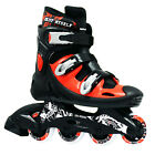 New Kingdom SportMax Pro Inline Roller Blades Skates Junior Senior Black Red