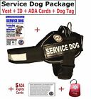SERVICE DOG VEST  + ID Card  + (10) ADA Rights Card  + Dog Tag - SD Package