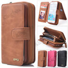 Genuine Leather Case Multifunction Zipper WalletMagnet Cover for iPhone 6 7 Plus
