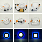 LED Light Recessed Ceiling Panel Bulb Down Cree Lamp Dimmable 6W/9W Blue&White