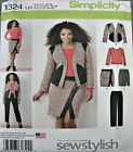 Simplicity Sewing Pattern 1324 Ladies Suit Skirt Pants Top 8-16