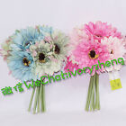 "28cm 11"" 8 STEMS ARTIFICIAL SILK BARBERTON DAISY GERBERA FLOWER BOUQUET BUNCH"