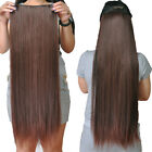140g Thick Full Head Clip In One Piece 100% Remy Real Human Hair Extensions 22""