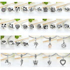 Original Cat,plam Tree,acrylic Pearl Dangle Charms Fit Women 925 Bracelet,bangle