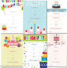 20 x A5 Cake Cupcake Bunting Write your own Birthday Party Invites with envs