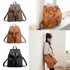 Fashion Women Leather Travel Satchel Girl Shoulder Backpack School Rucksack Bag