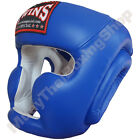 Twins Special Muay Thai Head Guard Protection HGL-3 Blue Size M-L.