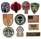 PATCH EMBROIDERED MILITARY TACTICAL ARMY FLAG COBRA MICHAEL SKULL DOG K9
