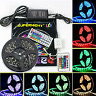5M 5050 SMD RGB 300LEDs Strip Light Non-Waterproof Black PCB+Controller+DC Power
