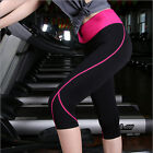 Women Cropped Leggings Gym Sports Athletic Yoga Workout Fitness Lounge Pants F77