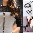 Long Chain Charm Pendant Black Chain Pendants Sweater Women's Necklaces Fashion