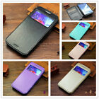 Magnetic Luxury View Window Flip Leather Wallet Cards Case Cover For Cell Phones