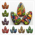 3PCS 50x28x7mm Beautiful Mixed Stone Pendant bead XX054