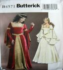 Butterick Sewing Pattern 4571 Ladies Medieval Dress History Costume Pick Size