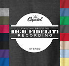 Capitol Records HIGH FIDELITY Soft Ringspun Cotton T-Shirt Stereo Tower Label