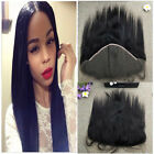 "10-20"" India Human Hair 13X6"" Lace Frontal Closure Silky Straight Free Part"