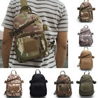 Men Canvas Bag Outdoor Military Shoulder Tactical Backpack Camping Travel Hiking