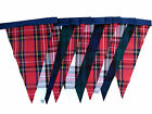 Mixed tartan plaid single sided bunting - wedding birthday party decoration