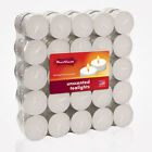 DecoGreat Tealight Candles, White, Unscented