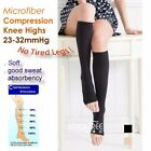 2 Pairs Relief Knee High Compression Open Toe Knee High Socks 23-32mmHg