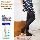 1 Pair New Open Toe Microfiber Sweat Wicking Compression Tights 23-32mmHg