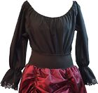LARP-Cos-Play-Womens-Medieval-3/4 SLEEVED GYPSY BLOUSE All Womens Sizes/Colours