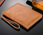 Real Cowhide Leather Handheld Case Card Cover Skin For Apple iPad 9.7
