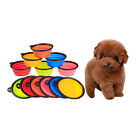 Pet Collapsible Cat Dog Cute Silicone Travel Feeding Bowl Dish Water Feeder
