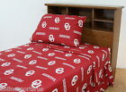 Oklahoma Sooners Sheet Set King Size Team Color