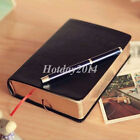 Thick Classic Vintage Notebook Journal Diary Sketchbook Leather Cover Blank Page