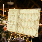Personalised Wedding Table Seating Plan-HAPPILY EVER AFTER-GOLD DEMASK-4 SIZES
