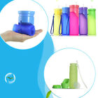 500ml/18oz Foldable Outdoor Water Bottle Travel Camping Drink Juice Cup BPA-Free