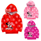 Lovely Cartoon Minnie Mickey Bambine Felpa Cappotto Con Cappuccio Pullover