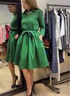 Women's Retro Hepburn Style Dress Evening Party Prom Shirt Dress With Belt C80
