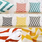 Ripple Zig Zag Wave Linen Cotton Cushion Cover Home Decor Throw Pillow Case