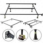 BN Metal Bed Frame Full Twin Queen Adjustable Size Machinee Heavy Duty w/Roller