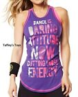 Zumba Exploding with Attitude Racerback Tank Top - Galaxy Purple ~ Med & Large