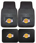 Los Angeles Lakers Car Mats 4 Pc Front & Rear Heavy Duty Vinyl