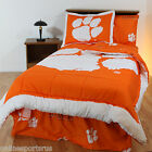 Clemson Tigers Bed in a Bag Twin Full Queen King Size Comforter Set CC