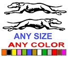 GREYHOUND DOGS STICKER DECAL  *ANY SIZE OR COLOR AVAILABLE*