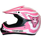 Leopard LEO-X17 Kids Child Motocross Crash Helmet ATV Quad Protection Pink White