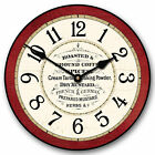 Kitchen Pantry LARGE WALL CLOCK 10- 48 Whisper Quiet Non-Ticking WOOD HANDMADE