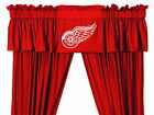 Detroit Red Wings Curtains Drapes & Valance Set with Tie Backs